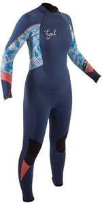 2020 Gul Junior Response 5/3mm Back Zip Wetsuit RE1278-B8 - Blue