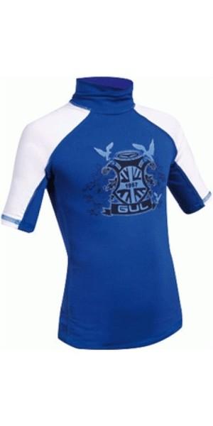 Gul Junior kids Crest Rash Vest Short Sleeved in BLUE RG0310