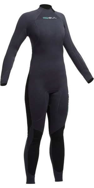 Gul Code Zero Womens 4/3mm Back Zip Wetsuit JET CZ1202-A9