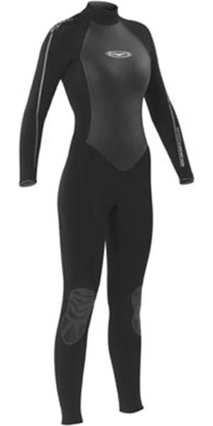 Gul Ladies Flexor 2 3/2mm Back Zip Wetsuit in Black / Silver FX1211