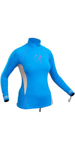 2019 Gul Womens Swami Long Sleeved Rash Vest Blue / Silver RG0331-B4