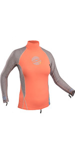 Gul Womens Swami Long Sleeved Rash Vest Coral / Marl RG0331-B4