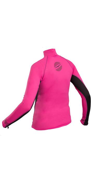 2019 Gul Womens Swami Long Sleeved Rash Vest Pink / Black RG0331-B4
