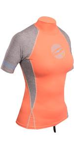 Gul Womens Swami Short Sleeve Rash Vest Coral / Marl RG0330-B4