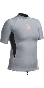 Gul Womens Swami Short Sleeve Rash Vest Marl / Black RG0330-A9