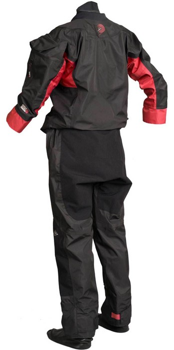 2020 Gul Mens Dartmouth Eclip Zip Drysuit Inc Fleece GM0378-B5 - Black / Red