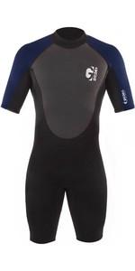2021 Gul Mens G-Force 3mm Back Zip Shorty Wetsuit GF3305-B7 - Black / Navy