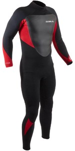 2021 Gul Mens Response 5/3mm Back Zip GBS Wetsuit RE1213-B9 - Black / Red