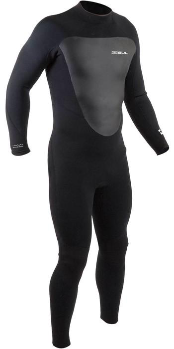 2021 Gul Mens Response 5/3mm Back Zip GBS Wetsuit RE1213-B9 - Black