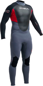Gul Response 3/2mm GBS Back Zip Wetsuit Graphite / Red RE1231-A9