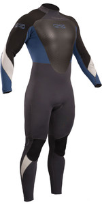 2020 Gul Response 3/2mm Back Zip GBS Wetsuit Graphite / Blue RE1231-B4