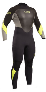 2019 Gul Response 3/2mm Back Zip GBS Wetsuit Black / Lime RE1231-B4