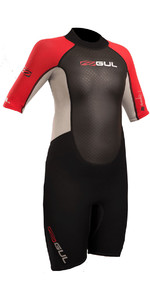 2020 Gul Response Junior 3/2mm Shorty Wetsuit Black / Red RE3322-B4