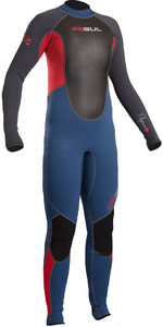 2020 Gul Response Junior 3/2mm Flatlock Wetsuit Blue / Graphite RE1322-B4