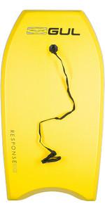 2021 Gul Response Junior 36 Bodyboard - Yellow / Grey Rail GB0022-A9