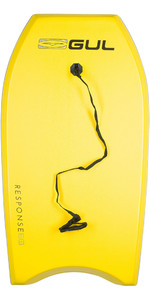 2019 Gul Response Junior 36 Bodyboard - Yellow / Grey Rail GB0022-A9