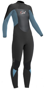 2019 Gul Response Womens 5/3mm GBS Back Zip Wetsuit Jet / Pewter RE1229-B1