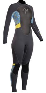 2019 Gul Response Womens 3/2mm Flatlock Back Zip Wetsuit Graphite Lines RE1319-B4