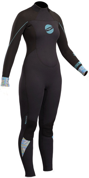 2018 Gul Response Womens 3/2mm GBS Back Zip Wetsuit Black RE1232-B4