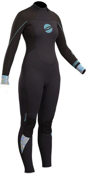 2018 Gul Response Womens 3/2mm GBS Back Zip Wetsuit Black RE1232-B4