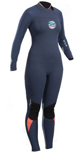 2019 Gul Response Womens FX 3/2mm GBS Wetsuit Blue / Lines RE1264-B4