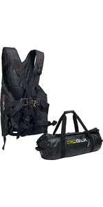 2021 Gul Stokes Trapeze Harness & 60L Dry Holdall - Black