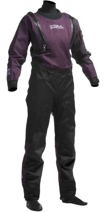 2020 Gul Womens Code Zero U-ZIP Drysuit Black / Plum GM0373-A8