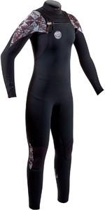 2020 Gul Womens Flexor 5/4mm Chest Zip Wetsuit FX1213-B8 - Black