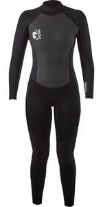 2021 Gul Womens G-Force 3mm Back Zip Wetsuit GF1306-B7 - Black