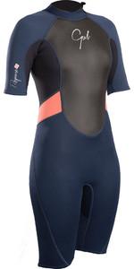 2019 Gul Womens Response 3/2mm Back Zip Shorty Wetsuit Navy / Black RE3318-B4
