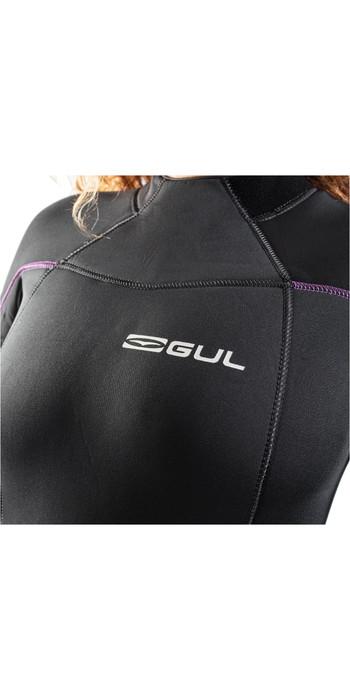 2021 Gul Womens Response 5/3mm Back Zip GBS Wetsuit RE1229-B9 - Jet Grey / Black
