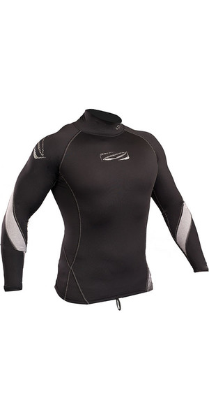2018 Gul Xola Long Sleeve Rash Vest Black RG0339-B4