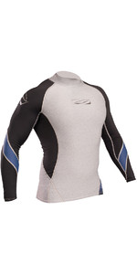 2019 Gul Xola Long Sleeve Rash Vest Marl / Black RG0339-B4