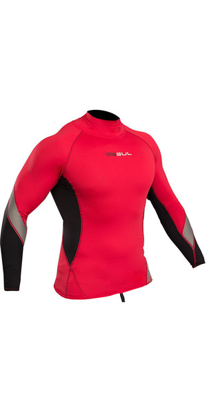 2019 Gul Xola Long Sleeve Rash Vest Red / Black RG0339-B4
