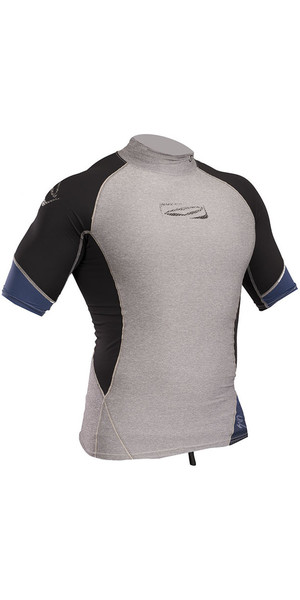 2018 Gul Xola Short Sleeve Rash Vest Marl / Black RG0338-B4