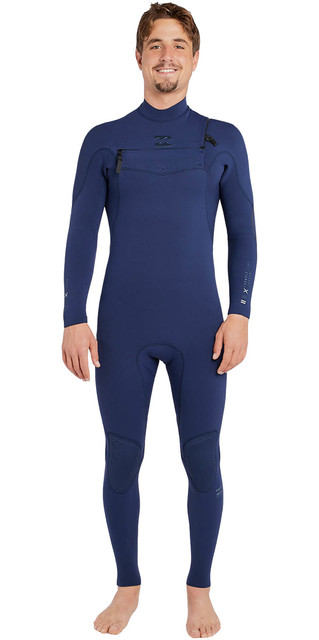 2018 Billabong Furnace Comp 3/2mm Chest Zip Wetsuit Heather Blue H43m10 Picture