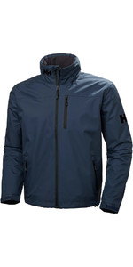 2019 Helly Hansen Hooded Crew Mid Layer Jacket Graphite Blue 33874