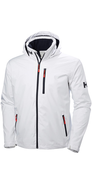2018 Helly Hansen Hooded Crew Mid Layer Jacket WHITE 33874