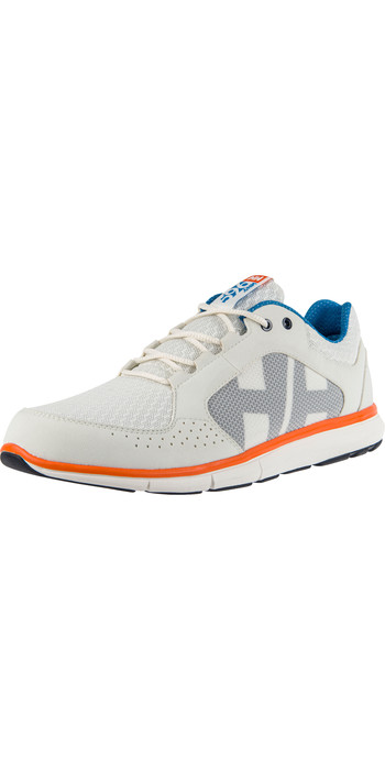 2020 Helly Hansen Ahiga V4 Hydropower Sailing Shoes 11582 - Off White / Racer Blue