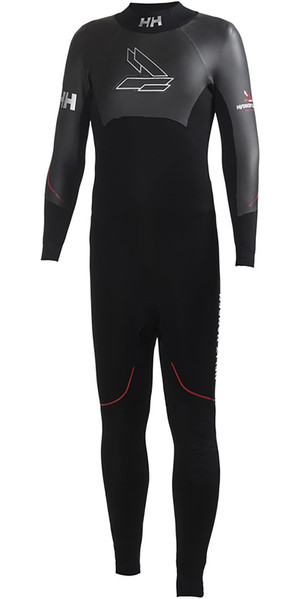 2018 Helly Hansen Backline 3mm Back Zip Flatlock Wetsuit Black 31702
