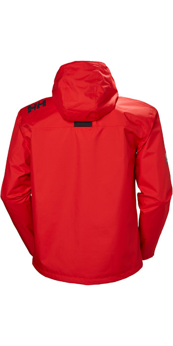 2021 Helly Hansen Crew Hooded Jacket Alert Red 33875