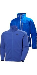 Helly Hansen Mens Crew Jacket & Daybreak Fleece Package - Olympian Blue