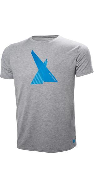 2018 Helly Hansen HP Shore T-Shirt Grey Melange 53029