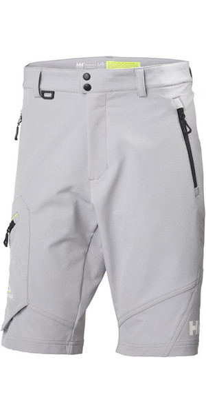 2018 Helly Hansen HP Softshell Shorts Silver Grey 53052