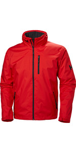 2020 Helly Hansen Hooded Crew Mid Layer Jacket Alert Red 33874