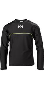 Helly Hansen Junior Rider Long Sleeve Rash Vest Ebony 33919