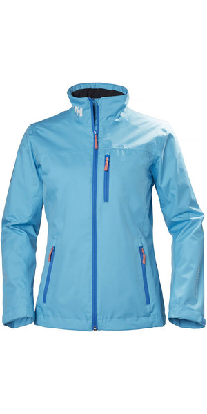 2018 Helly Hansen Womens Mid Layer Crew Jacket Aqua Blue 30317