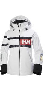 2019 Helly Hansen Womens Salt Power Jacket White / Black 36279