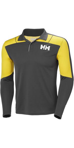 2019 Helly Hansen Lifa Active Light Long Sleeve Polo Ebony 48362