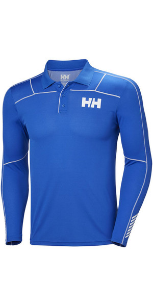 2018 Helly Hansen Lifa Active Light Long Sleeve Polo Olympian Blue 48362